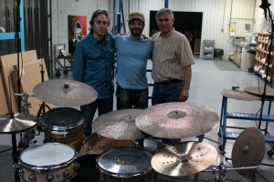 At Sabian factory