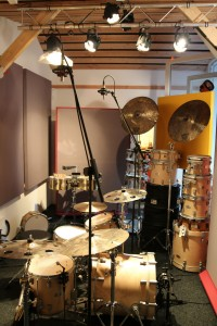 My kit in the studio recording IC2 in Germany - 10150931658042744