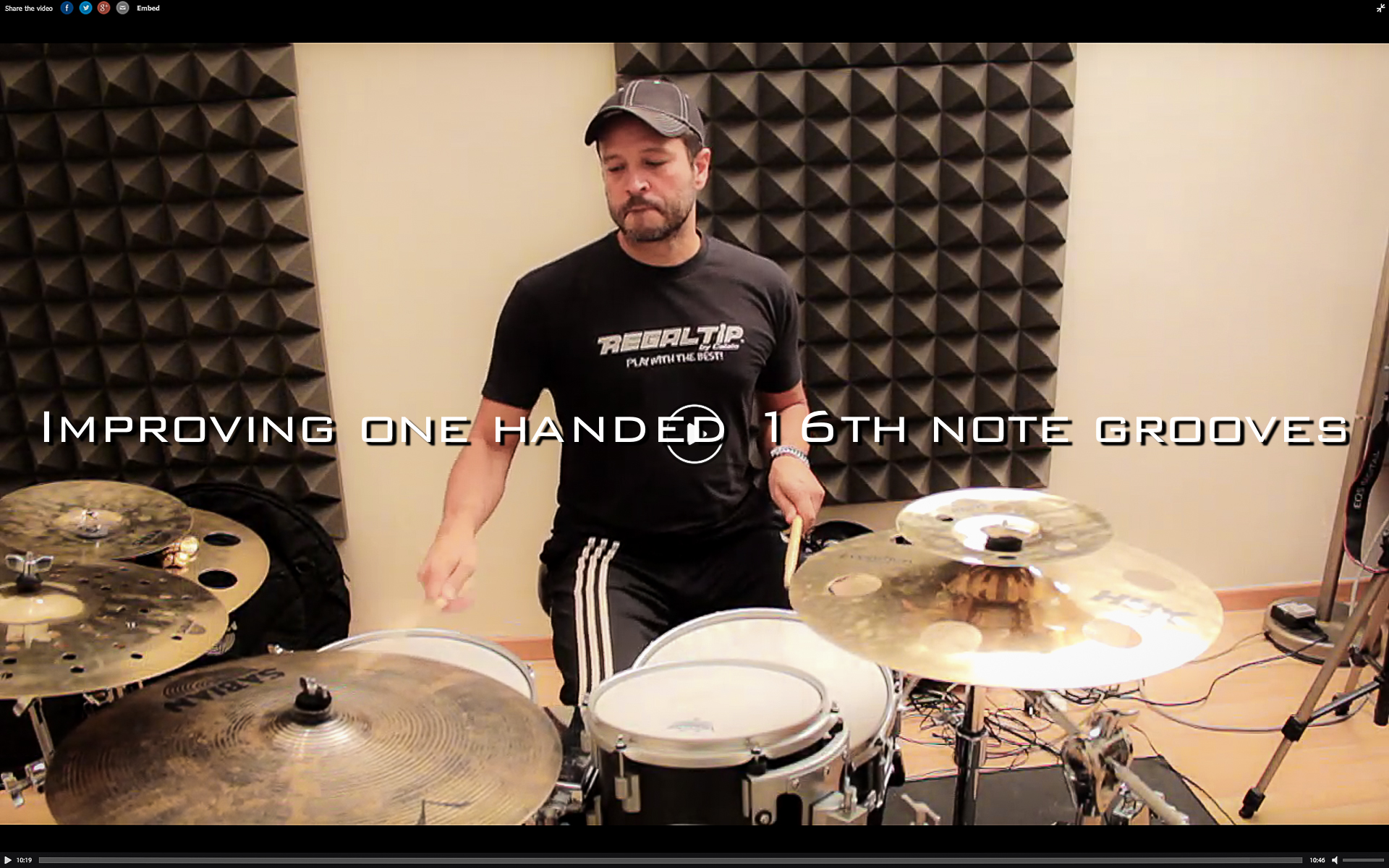 One handed 16th notes