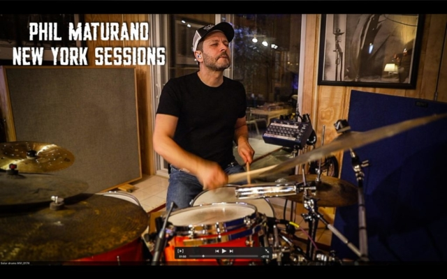 "Phil Maturano in studio for ""New York Sessions"""